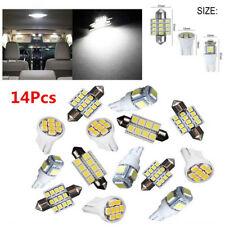 White LED Interior Package Kit 14Pcs For T10&31mm Map Dome License Plate Lights