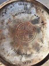 griswald cast iron griddle