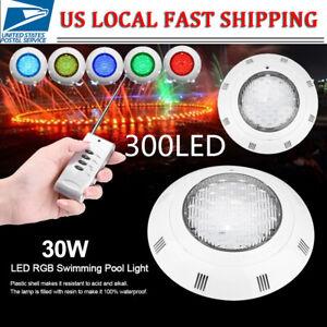 Multi-Color 30W 12V 300 LED RGB Underwater Swimming Pool Bright Light+Control