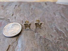 14 KT Yellow Gold Butterfly Screw Back Stud Post Earring NEW Tiny Child Sized