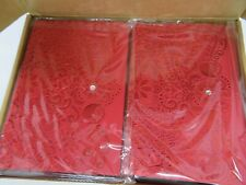 50pcs RED Cover Laser Cut Diamond Elegant Wedding , Party Invitation Cards