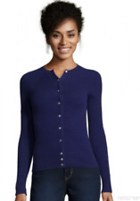 Cynthia Vincent Long Sleeve Cashmere Cardigan Medieval M NWT $240