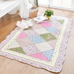 Carpet Soft Patchwork Cotton Carpet Anti-slip Carpets for Living Room Area Rugs