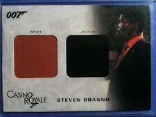 James Bond In Motion dual costume card DC07 Steven Obanno's Shirt & Jacket 0383/