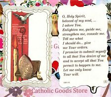 Gifts of the Holy Spirit + Prayer  - Scalloped trim - Paperstock Holy Card