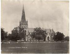 c.1880's PHOTO SINGAPORE ST ANDREWS CATHEDRAL LAMBERT