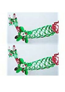 2 Pack-40cm Red And Green Snowflake Foil Ball Hanging Decoration- PM454-2PIECES