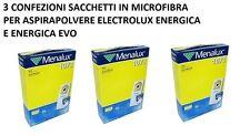 3 CONFEZIONI SACCHETTI ASPIRAPOLVERE ELECTROLUX 1073MENALUX ENERGICA ZS206EV