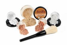 6 pc. Starter Kit (Deep Tan) Mineral Makeup Set Bare Skin Matte Foundation Cover
