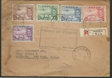 1940 Censored/Registered Cover to USA Scott No'sC10-15 Set, Cat $83