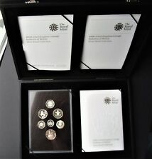 UK Elizabeth II 2008 Emblems of Britain Silver Proof Coin Set + Certificates