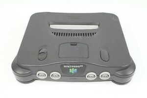 Nintendo  64 N64 Console Black NUSHA Japan Tested please read