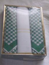 """Boîte de 3 mouchoirs """"Winkler"""" vintage en 100 % coton neufs"""