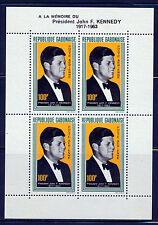 GABON 1964 JOHN F KENNEDY MEMORIAL SOUVENIR SHEET SCOTT C27a