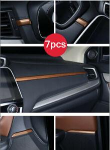 7 Peach Wood Grain Dashboard Center Console Stripe trim For Honda CR-V 2017-2021