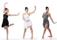 PUSH Lyrical Ballet Dance Dress Costume Sequin Child S, CXL & Adult 3XL