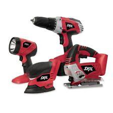 SKIL NiCad 18V Cordless Drill, Sander, Light & Jigsaw_4-Tool Combo Kit 2887-23