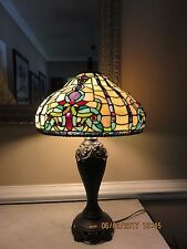 Dale Tiffany Antique Golden Sand Topaz Baroque 2 Light Table Lamp (Pair Avail)