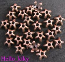 250 pcs Antiqued copper plt Star spacer beads A663