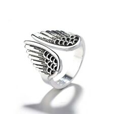 Retro Silver Color Ring Angel Wings Ring Fashion Accessories for Women&Men