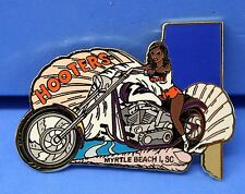 HOOTERS GIRL MYRTLE BEACH I SC WHITE MOTORCYCLE PUZZLE LAPEL PIN