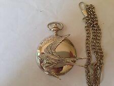 B25 Swallow argent poli case homme cadeau quartz montre de poche fob