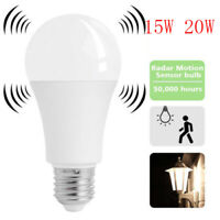 E27 Radar Sensor Ambient PIR Motion 15W LED Globe Bulb Light Lamp Practical US