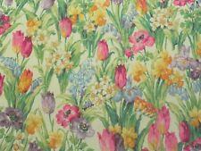 Sanderson Curtain Fabric SALAD DAYS 2.2m Celadon/Magenta Floral Design 220cm
