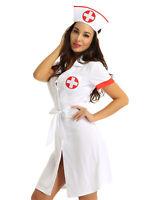 Ärztin Krankenschwester Kostüm Mini Kleid mit Hut Fasching Karneval Verkleidung