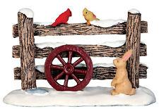 """LEMAX Decoración 'rústica valla"""", figura de decoración pastel de Navidad, Aves Conejo"""