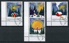 Liechtenstein 2017 CTO Christmas Trees Stars Snow 4v Set Stamps