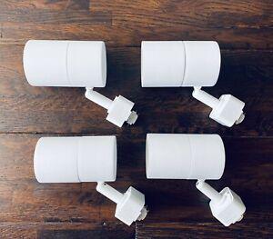Hampton Bay White Integrated LED Mini-Cyl Linear Track Lighting (1) Single Head