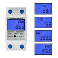 Digital Energiekostenmessgerät Drehstromzähler Hutschiene KWh Zähler Wattmeter