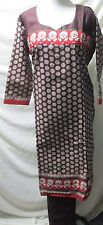 beautiful 100% cotton  print churidar salwar kameez  size 3XL 48