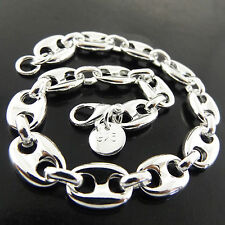 BRACELET CUFF BANGLE GENUINE REAL 925 STERLING SILVER S/F SOLID ITALIAN DESIGN