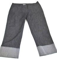 In Moda Womens Sz 10 Capris Pants Black Denim Look Crop Cropped Clam Diggers