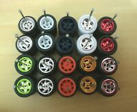 (Promo)HOT WHEELS REAL RIDERS WHEELS RUBBER TIRES 10 SET Mix 1/64 JDM