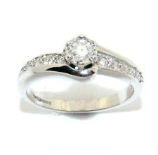 Mujer 9Ct 9Ct Oro Blanco Set Anillos con Diamantes, Talla UK K