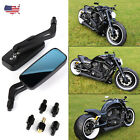 Black Motorcycle Mirrors Wing For Harley Davidson Sportster 1200 XL1200N XL1200C
