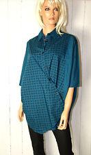 Cora kemperman Diseñador Túnica Blusa con bolsillos talla S Estilo De Capas