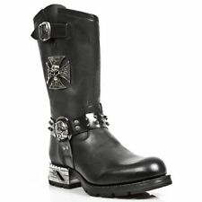 New Rock Slip On Biker Boots for Men