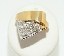 Echtschmuck aus Gelbgold mit VVS1 Reinheit runde Ringe