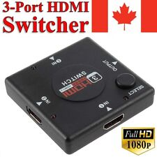 3 Port HDMI Switcher Adapter Converter Connector Splitter Extender Hub for HDTV