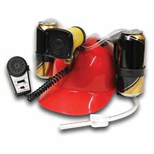 Megaphone Drinking Hat Hands Free 2 Beer Can Helmet