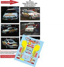 DECALS 1/43 REF 10 OPEL CALIBRA LUNDGAARD RALLYE MONTE CARLO 1995 RALLY WRC
