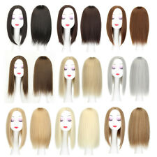 New Style Women Medium High Temperature Synthesis Fiber Wigs Straight Hairpieces