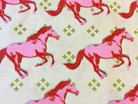 RPG516 Cotton + Steel Wild Horses Pony Stallion Equestrian Cotton Quilt Fabric