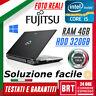 """P90_PC NOTEBOOK PORTATILE FUJITSU LIFEBOOK S760 15,6"""" CPU i5 4GB RAM 320GB HDD!!"""