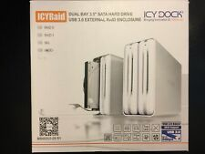 "ICYRaid Dual Bay 3.5"" SATA HDD USB 3.0 External RAID Enclosure Works Great"