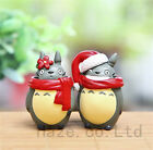 2pcs/set Christmas My Neighbor Totoro Mini Figure Xmas Gift Home Decor in 1.5